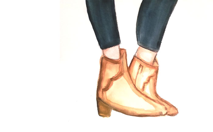 Insanity boots. Illustration copyright (!) Mrs Bovary 2016.